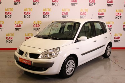 Photo occasion RENAULT Scenic II 1.5 DCI 105 CONFORT EXPRESSION Blanc Diesel 3/4