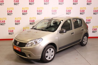 Photo occasion DACIA Sandero 1.4 MPI 72 GPL AMBIANCE beige Bicarburation essence-GPL