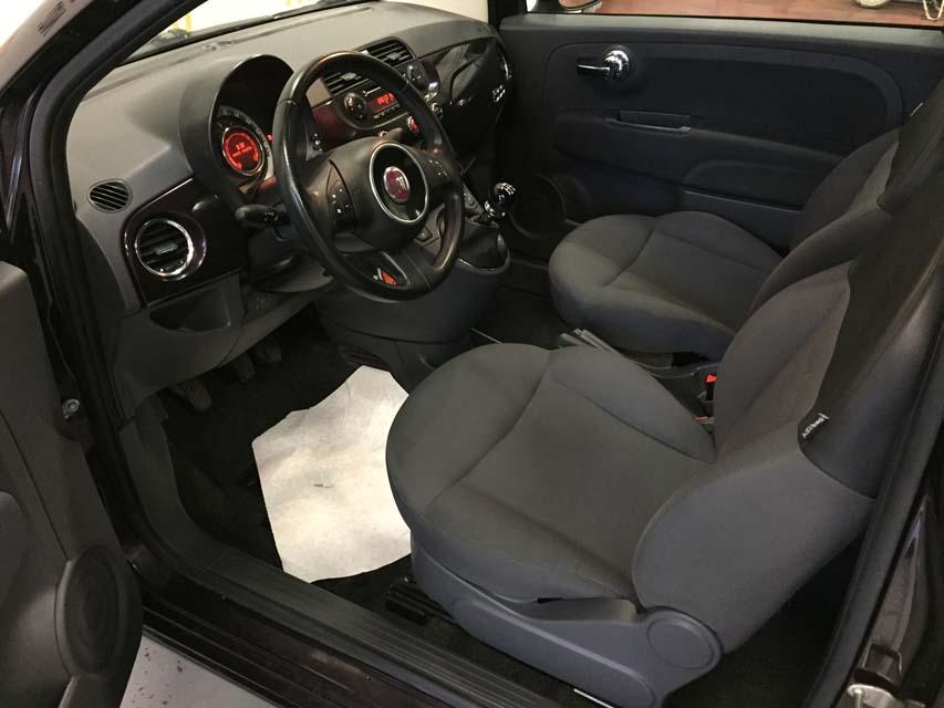 occasion fiat 500 1 2 8v 69 lounge violet essence nimes 9678 auto car no. Black Bedroom Furniture Sets. Home Design Ideas