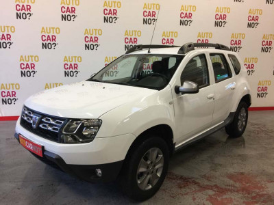 Voiture occasion DACIA DUSTER 1.6 16V 105 GPL PRESTIGE 4X2 BLANC Bicarburation essence-GPL Nimes Gard
